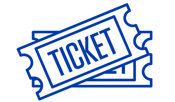 blue clipart of 2 tickets